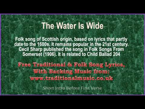 The Water Is Wide(American Traditional) - Song  Lyrics & Music