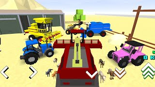 Bloccky Farm & Racing Sim 20 - New Machinery   Unlock All   Android / GamePlay screenshot 1