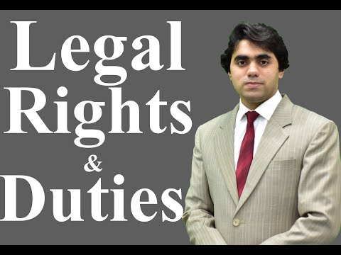 Legal Rights - Legal Rights and Duties- What are legal Rights - Video Lecture by Wajdan Bukhari