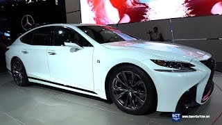 2018 Lexus LS 500 F Sport - Exterior Interior Walkaround - Debut at 2017 New York Auto Show