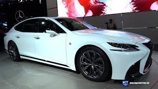 2018 Lexus LS 500 F Sport - Exterior Interior Walkaround - Debut at 2017 New York Auto Show