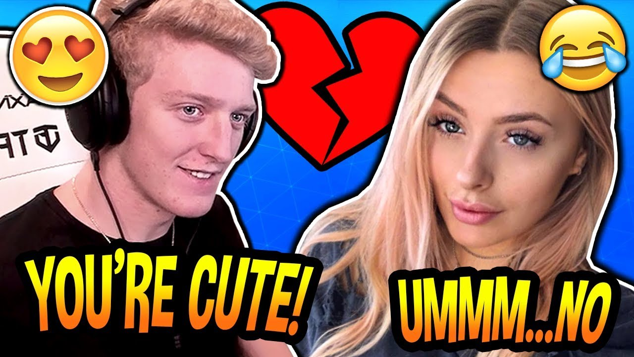 Tfue Becomes NERVOUS & Gets REJECTED After Trying to FLIRT With Fortnite Gamer Girl! *BLUSHES*