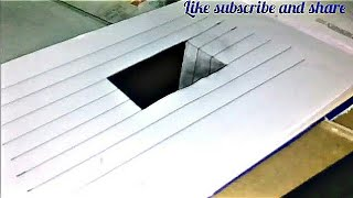 Very easy !!! How to draw  3d hole for kids -