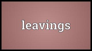 Leavings Meaning