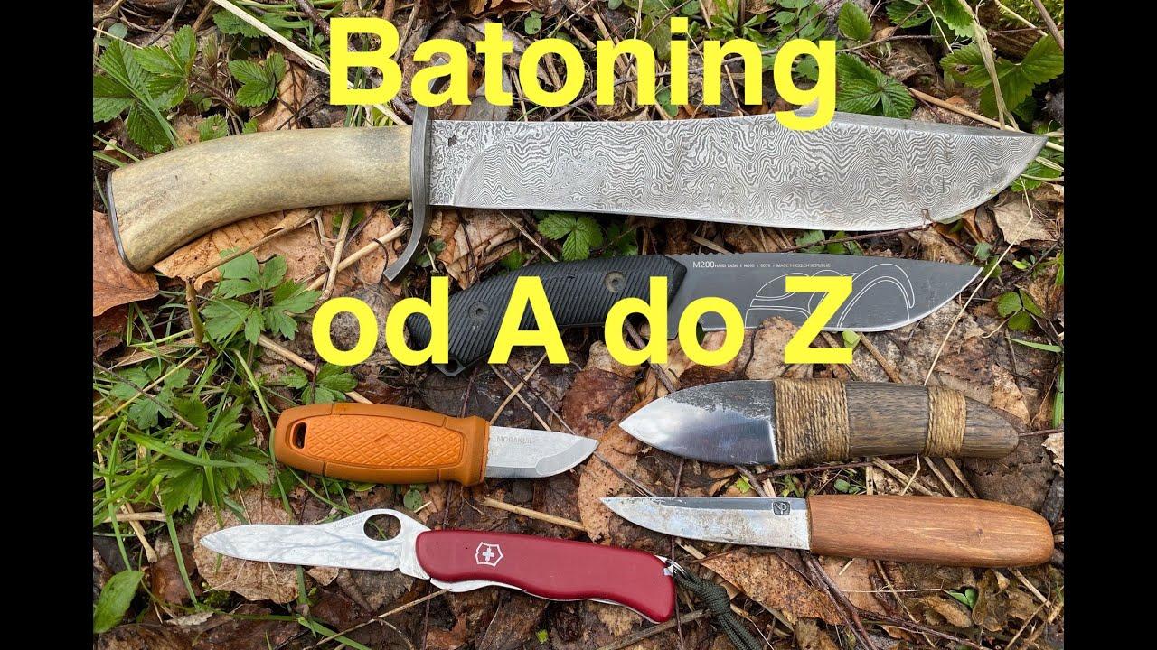 Štípání dřeva nožem- Batoning od A do Z