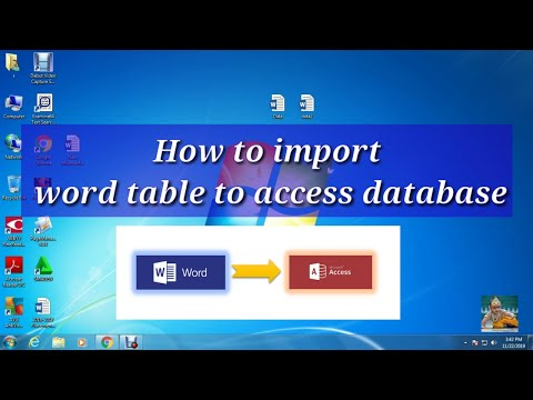 How to import word document  data in Microsoft Access database