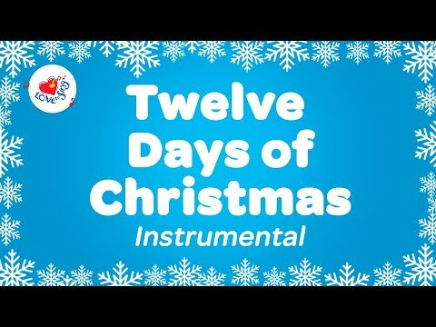 Twelve Days of Christmas Music with Karaoke Lyrics | Instrumental Christmas Songs