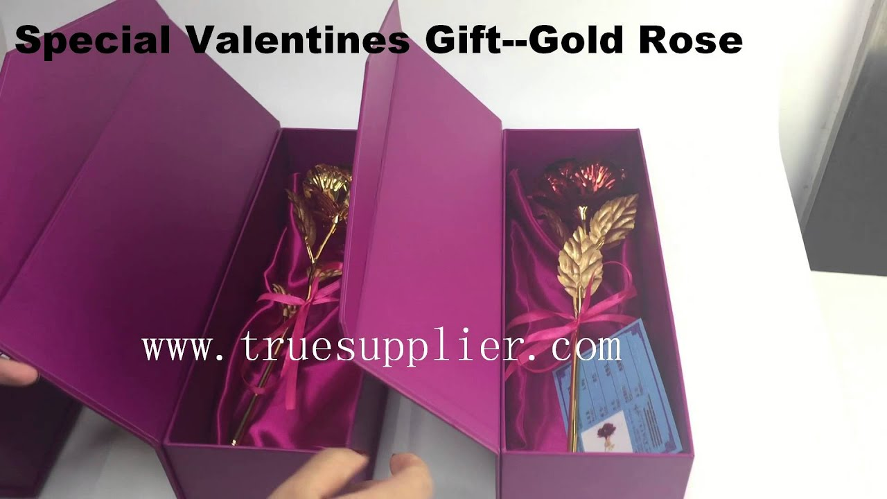 Luxury Valentines Special Gift Real Gold Rose Youtube