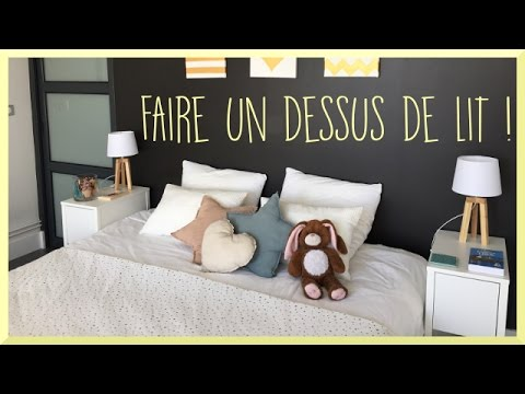 diy faire un dessus de lit sandra youtube. Black Bedroom Furniture Sets. Home Design Ideas