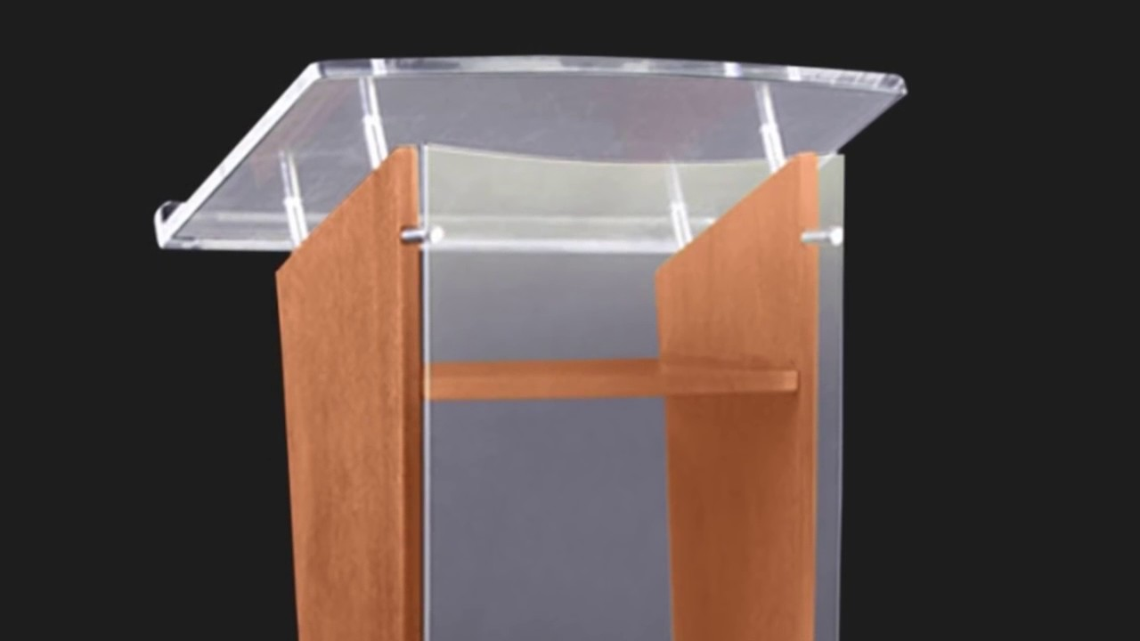 3500 Wood Acrylic Floor Lectern Podium Series Youtube