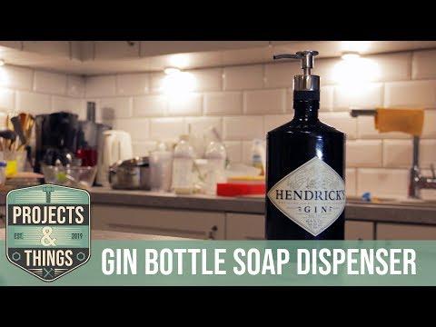 EASY PEASY: Gin Bottle Soap Dispenser