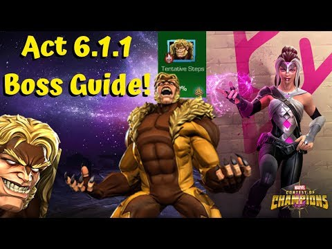 Act 6.1.1 Boss Guide! Sabretooth! - Marvel Contest of Champions