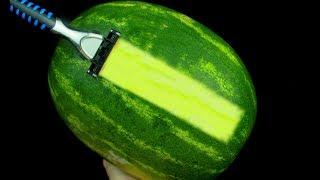 9 GENİUS TRİCK! - Siṁple Watermelon Tricks🍉
