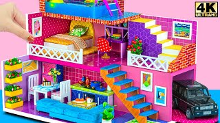 Build Three Storey Mansion House with Rooftop Pool and Garage ❤️ DIY Miniature Cardboard House #243