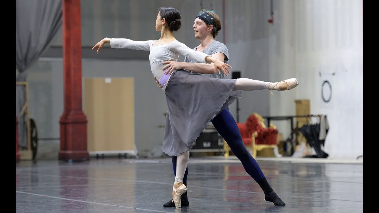 Cinderella: Erina Takahashi and Joseph Caley in rehearsals | English National Ballet