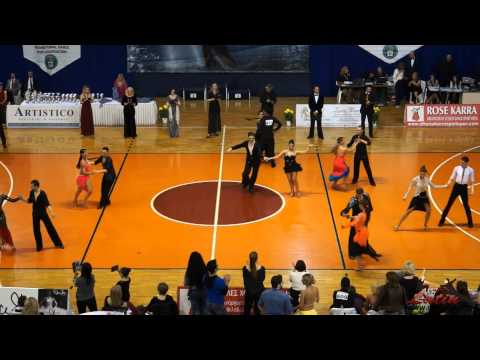 Athens DanceSport Open 2015: Adults: Three Dance Latin Open: QuarterFinal