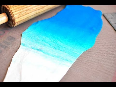 How To Roll Ombre Fondant Or Polymer Clay Youtube
