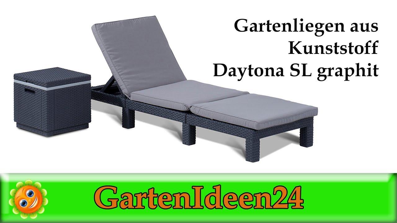 Gartenliege Aus Kunststoff Daytona Sl Graphit