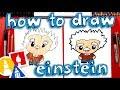 How To Draw Albert Einstein Cartoon