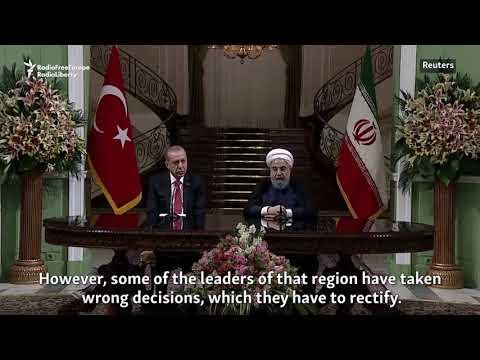 Rohani, Erdogan Decry Iraq's Kurdish Independence Bid