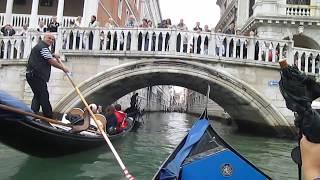"Memories of the journey Venezia in Italy. 水の都ウ""ェネチアでゴンドラ遊覧を楽しむ。"