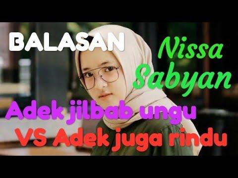 Adek Jilbab Ungu Vs Adek Juga Rindu Cover Wanita Sholehah