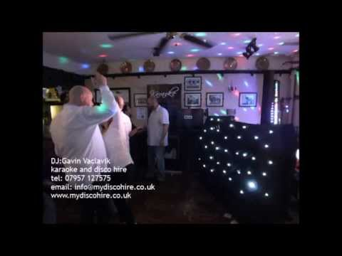 DJ:Gavin Vaclavik Karaoke and disco hire service.