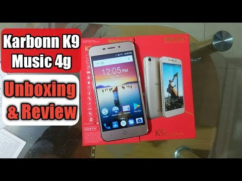 Karbonn K9 Music 4G Unboxing, review first look and all specifications