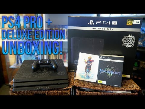 kingdom-hearts-3---limited-edition-ps4-pro-console-&-deluxe-edition-unboxing!
