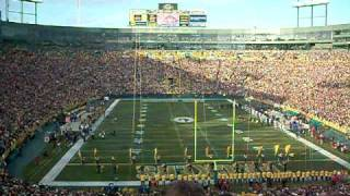 f 16 jet flyover and national anthem at packer game