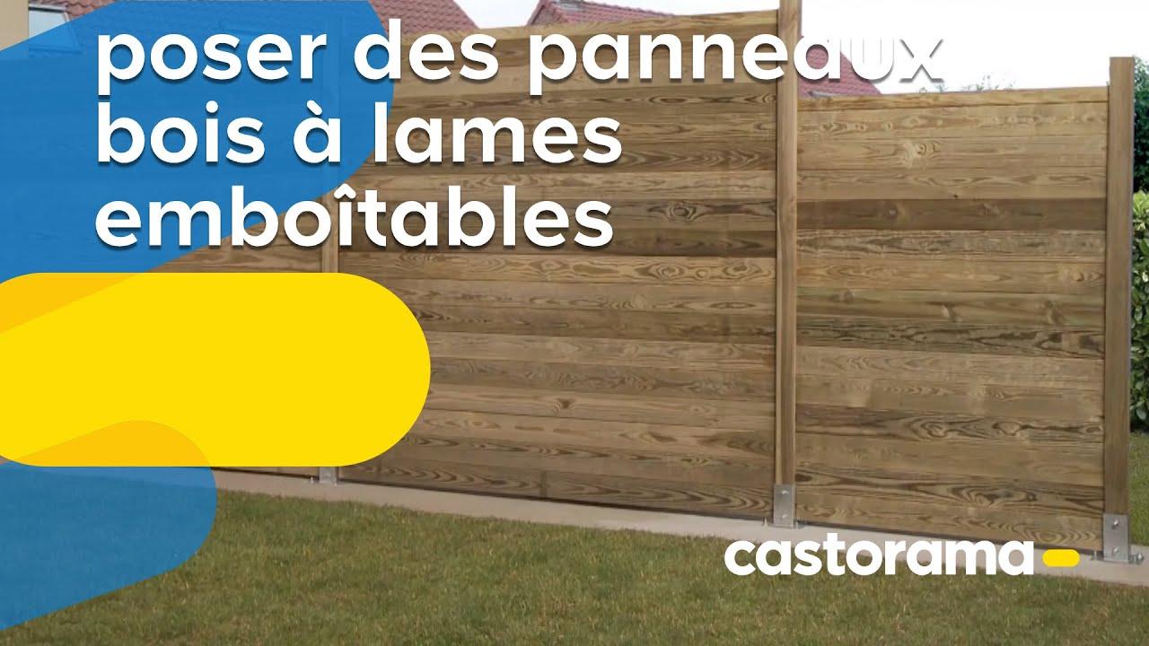 Lames De Bois Exterieur poser des panneaux bois à lames emboîtables (castorama)