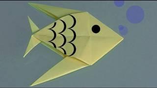 Un poisson en papier, Comment faire origami