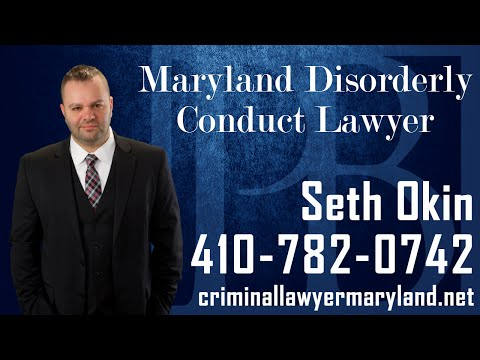 Maryland criminal lawyer Seth Okin discusses disorderly conduct charges in MD.