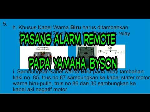 84# cara pasang alarm merk bht pada motor yamaha byson