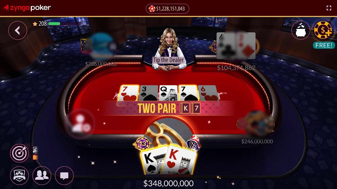 Kk Qq Jj 77 Zynga Poker Texas Holdem Poker Youtube