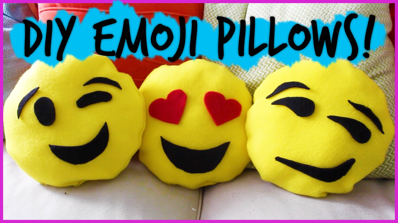 Diy Emoji Pillows No Sew: Easy DIY No Sew Emoji Pillows    #DIYwithPXB   YouTube,