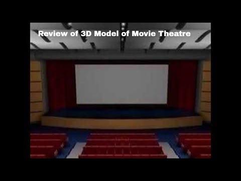 3d model movie theatre youtube for Theatre model