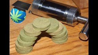 How To Make A Hash Puck From Grinder Kief With A Pollen Press