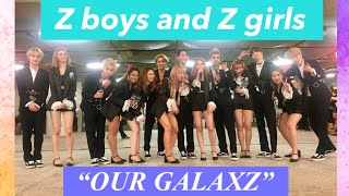 Z-Stars 'Our Galaxy' ( Z-boys  and Z-girls) Busking in Thailand Fancam..  Guess what we've got??