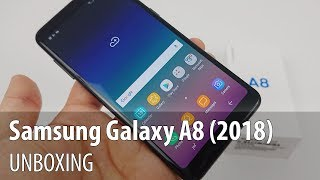 Samsung Galaxy A8 (2018) Unboxing (Duos Version)