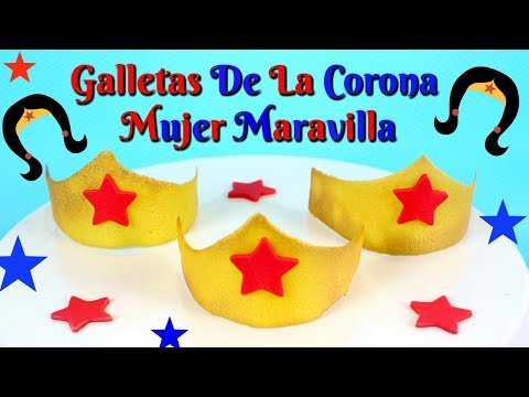 GALLETAS DE LA CORONA DE LA MUJER MARAVILLA (Postres de las películas de verano 2017)