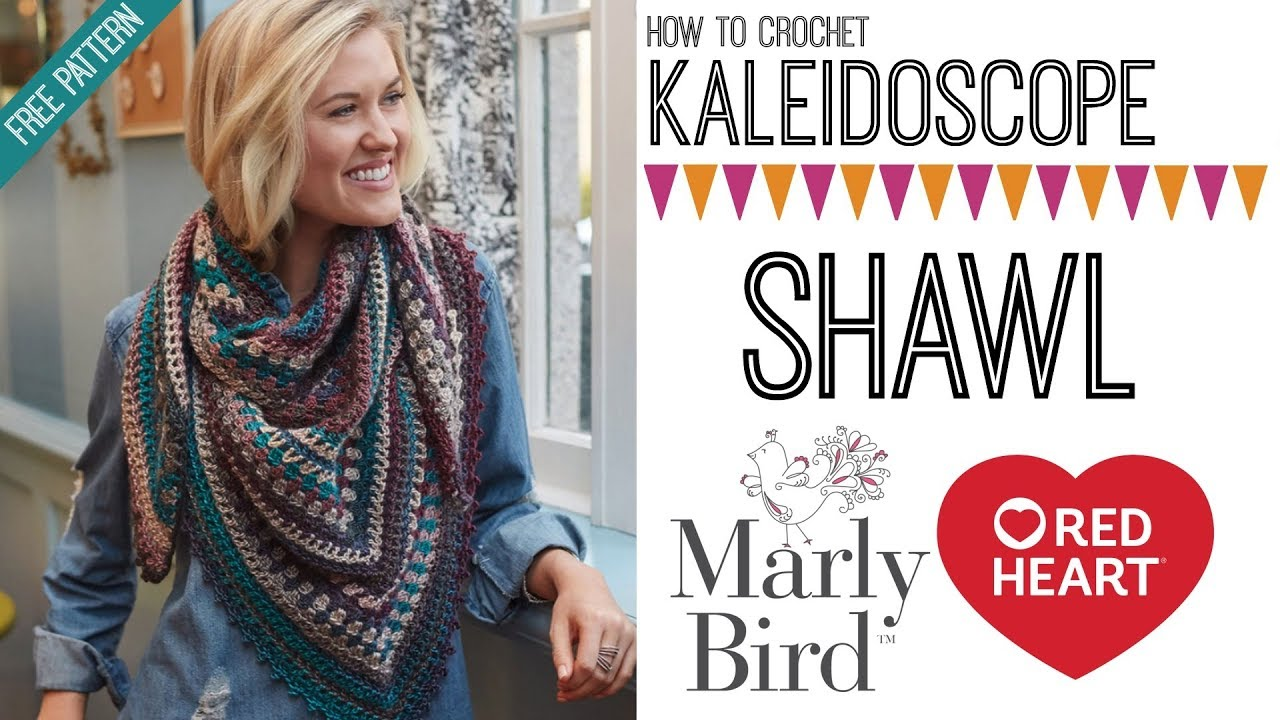 How to Crochet Kaleidoscope Shawl (Right Handed) - YouTube