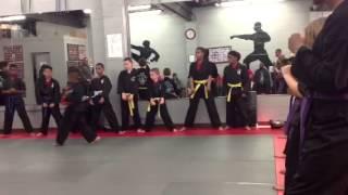 Eric Doing His Kicks For His Purple Belt Test At Kingi Kajukenbo
