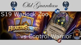 Hearthstone S19 Warlock Zoo vs Control Warrior - epic Boom Bot madness!