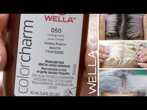 WELLA 050 COOLING VIOLET USED AS A TONER - GET GREY HAIR