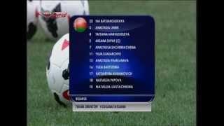 Футбол ЧМ 2015 Женщины Турция Беларусь 17 09 2014