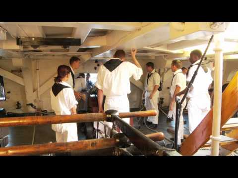 Gun Drill aboard USS Constitution