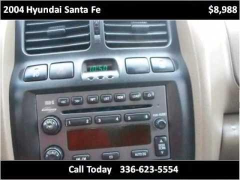 2004 Hyundai Santa Fe Used Cars Eden Nc Youtube