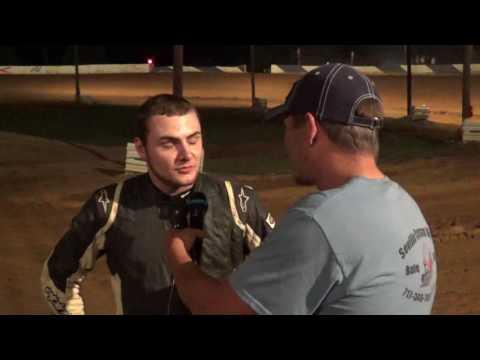 Hayden Miller in victory lane at Path Valley 6-17-17
