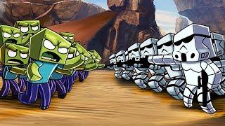 Minecraft - 1000 ZOMBIES VS 100 STORM TROOPERS! (Mob Battles)